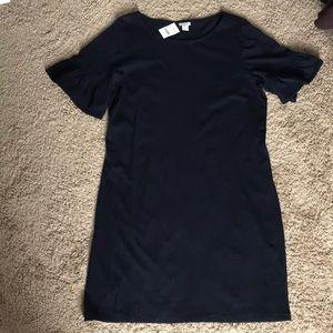 Navy cotton shift dress